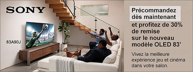 TV Oled Ultra HD 4K Sony XR-83A90J (83'') : ‑30% ou ‑3 000 € de remise immédiate