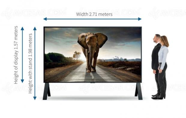 Sharp lance le plus grand écran 8K au monde