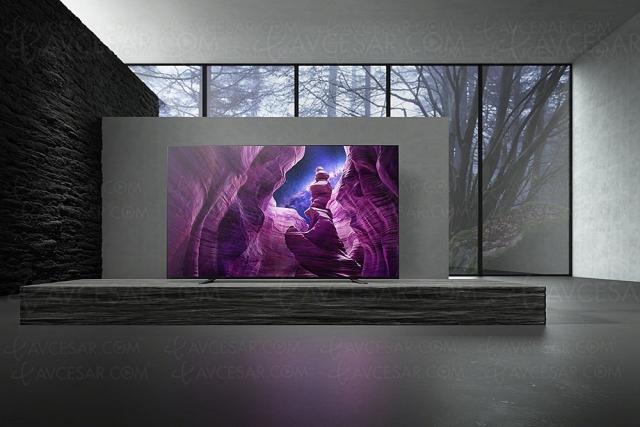 TV Oled Ultra HD 4K Sony KD‑65A8, offre flash 48h : ‑300 € de remise immédiate