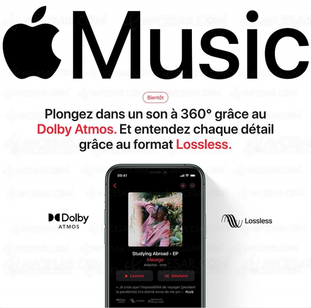 Apple Music Lossless, 75 millions d'albums, et Dolby Atmos, en juin sans surcoût