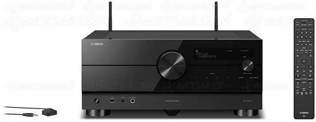 Yamaha RX-A4A : ampli 7.2, HDMI 2.1, 8K, HDR Dolby Vision, Dolby Atmos, DTS:X, HDR10+, AirPlay 2…