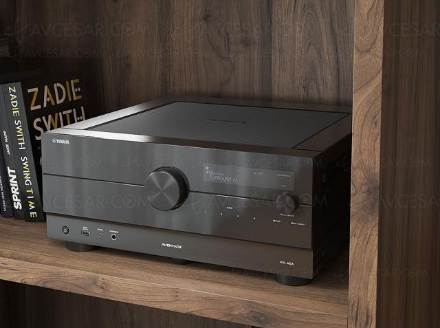 Yamaha RX-A6A : ampli 9.2, HDMI 2.1, 8K, HDR Dolby Vision, HDR10+ Dolby Atmos, DTS:X, Auro 3D…