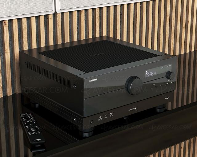 Yamaha RX-A8A : ampli 11.2, HDMI 2.1, 8K, HDR Dolby Vision, HDR10+ Dolby Atmos, DTS:X, Auro 3D…