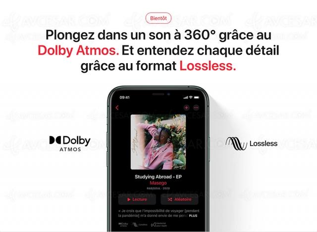 Apple Music Lossless bientôt disponible sur HomePod/HomePod Mini et Apple TV 4K