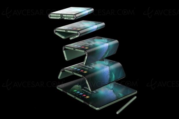 Samsung Galaxy Z Fold Tab : tablette/smartphone pliable en trois