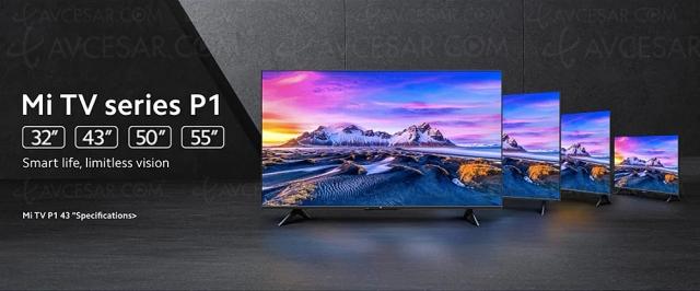TV LED Ultra HD 4K Xiaomi Mi TV P1, 32'', 43', 50' et 55'' au menu