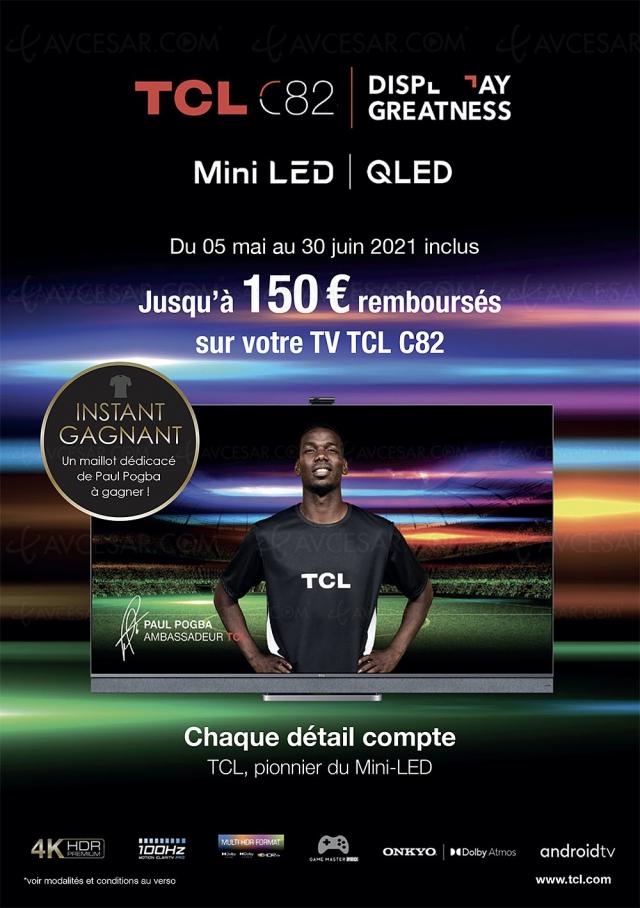 Offre de remboursement TV Ultra HD 4K TCL C825, jusqu'à 150 € remboursés