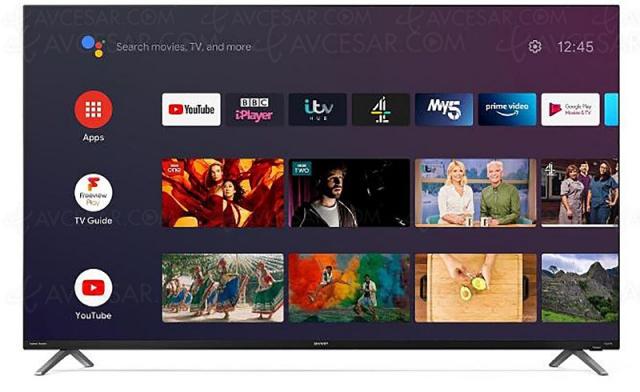 TV LED Ultra HD 4K Sharp DL, nouvelle série Smart Android TV 9.0