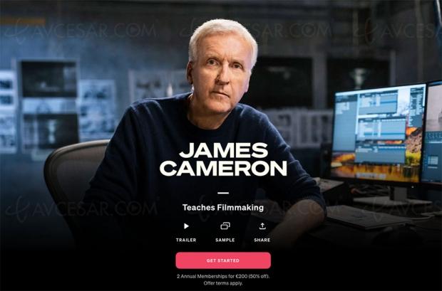 La Masterclass de James Cameron en ligne depuis aujourd'hui, bande-annonce