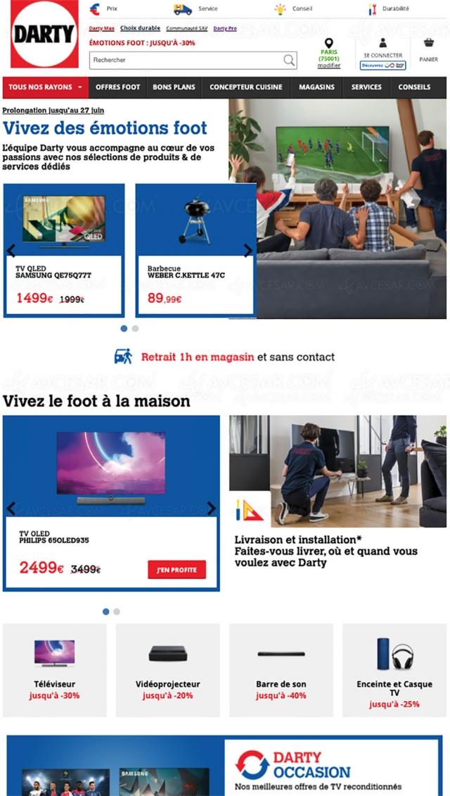 Soldes Émotions Foot Darty, jusqu'à ‑40% de remise sur des milliers d'articles