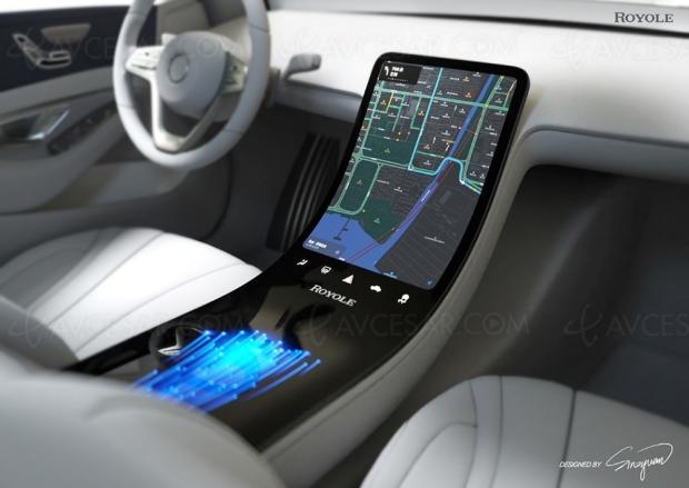 Tableau de bord/écran flexible pour voiture