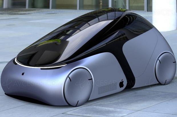 Concept futuriste Apple, ceci est une « iCar »