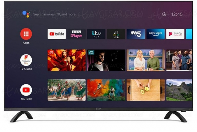 TV LED Ultra HD 4K Sharp DN, HDR Dolby Vision/Dolby Atmos et Smart Android TV 9.0