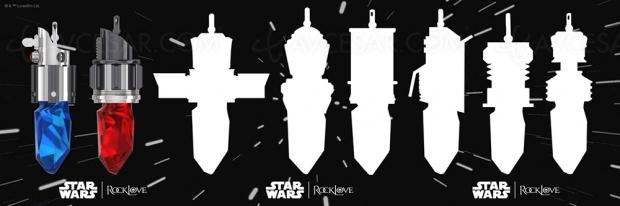 Colliers Star Wars en cristal de sabre laser