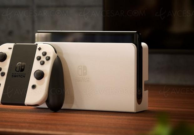 Le dock de la Nintendo Switch Oled disponible séparément