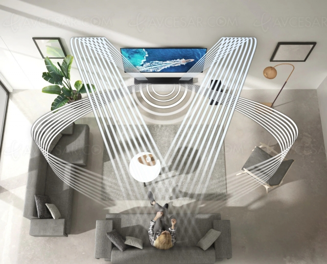 Samsung HW‑Q600A, barre sonore Dolby Atmos 3.1.2, Acoustic Beam et Q‑Symphony