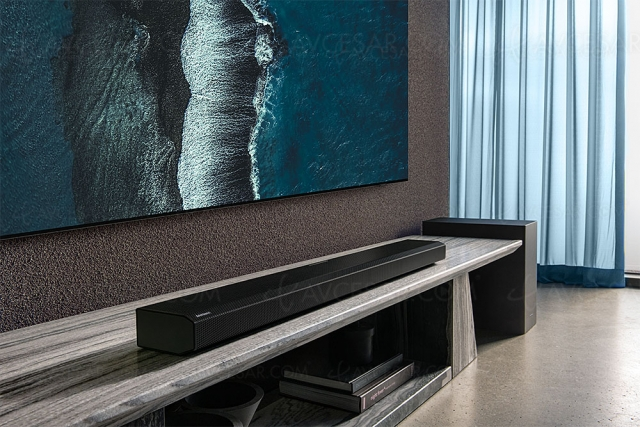 Samsung HW‑Q800A, barre sonore Dolby Atmos 3.1.2/DTS:X, Bluetooth, Acoustic Beam 2.0 et Q‑Symphony