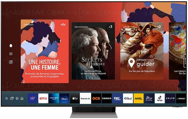 Application france.tv sur Smart TV Samsung