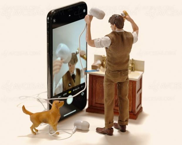 Scènettes miniatures à base d'iPhone et autres gadgets, ou l'art-tech