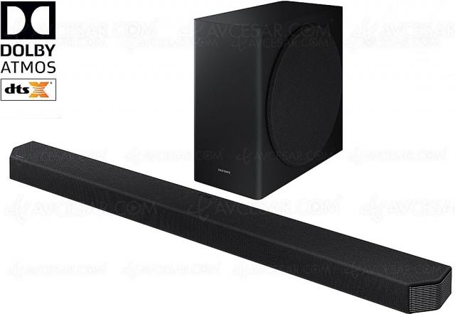 Soldes été 2021 > Barre de son DTS:X/Dolby Atmos 7.1.2 Samsung HW‑Q9000T à 699 €, soit ‑30% de remise