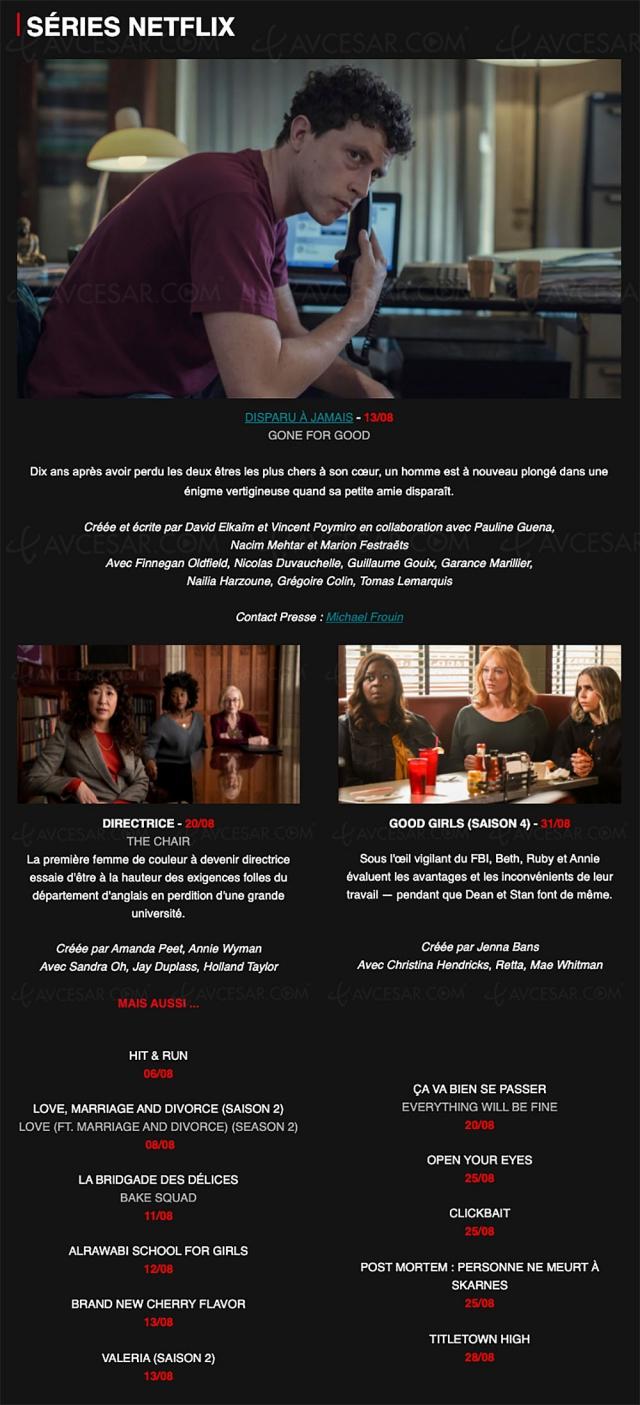 Quoi de neuf sur Netflix en août ? The Witcher s'anime + toutes les séries, films et docs