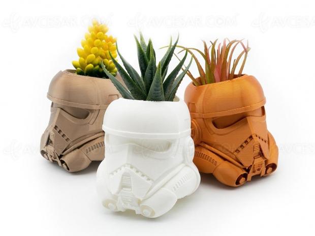 Pots de fleur Star Wars Stormtrooper, l'Empire a la main verte