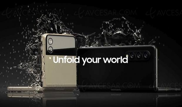 Fuite : les Samsung Galaxy Z Fold 3 etvZ Flip 3 mouillés