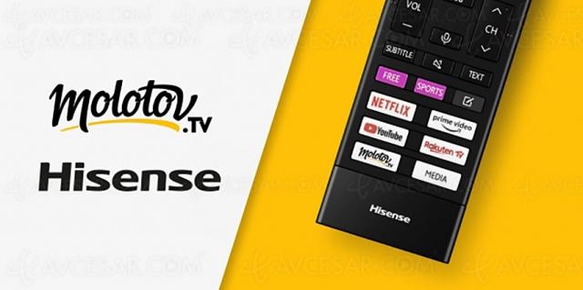 Touche Molotov sur les télécommandes des TV Hisense 2021