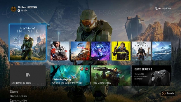 Nouvelle interface 4K en test sur Xbox Series X