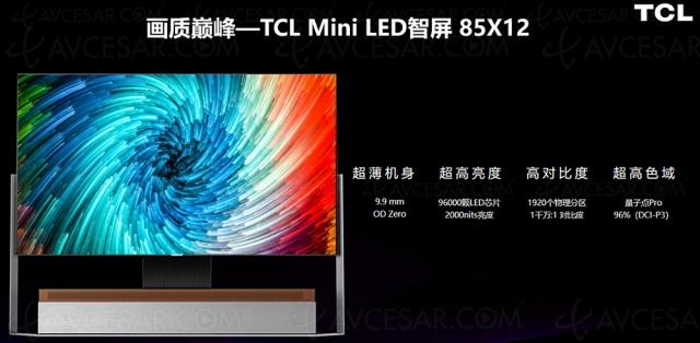 TV 8K Mini LED TCL série X officialisé pour fin 2021