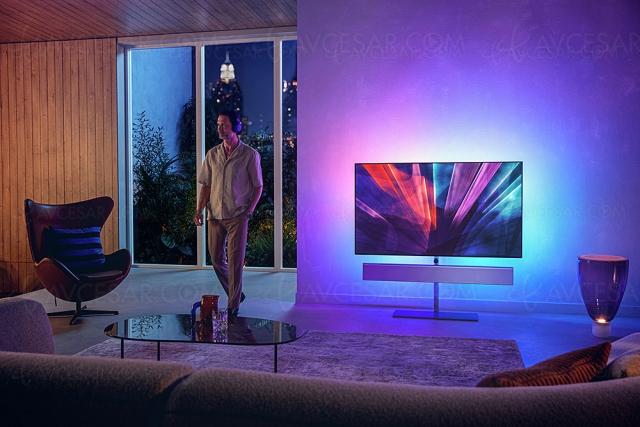 TV Oled Philips OLED986, nouveau P5 Dual Engine, Ambilight 4 côtés, Android TV 10 et barre de son B&W 3.0