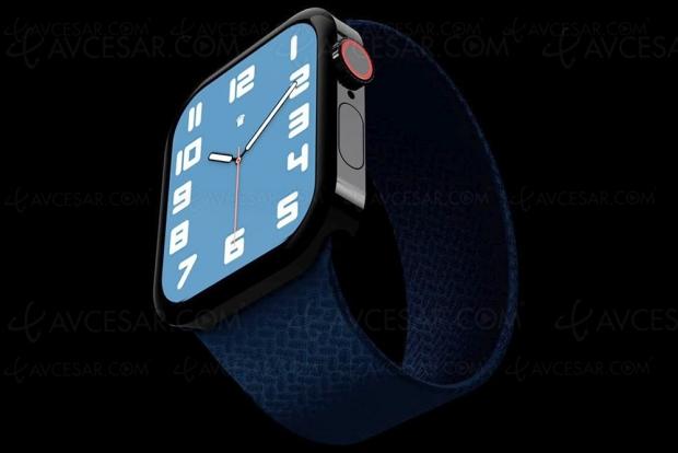 Apple Watch Series 7, nouveau design et plus grand écran ?