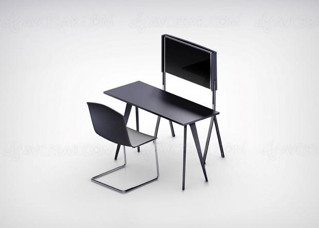 TV Oled Shift : concept téléviseur enroulable et rotatif à format variable