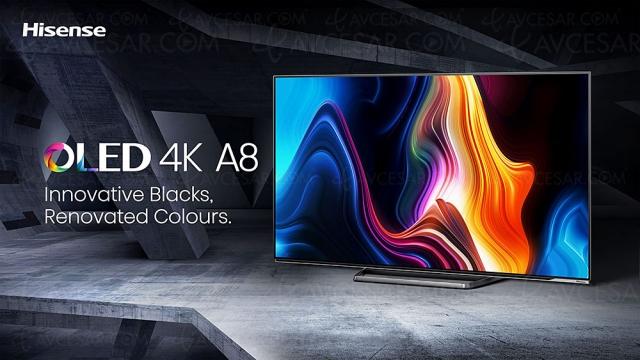 TV Oled Ultra HD 4K Hisense A85G, 55