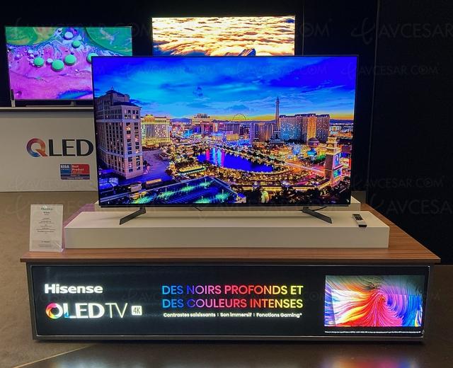 TV Oled Ultra HD 4K Hisense A8G, 55