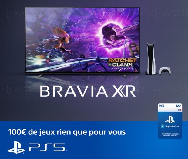 100 € offerts sur le PlayStation Store pour l'achat d'un TV Sony Bravia XR