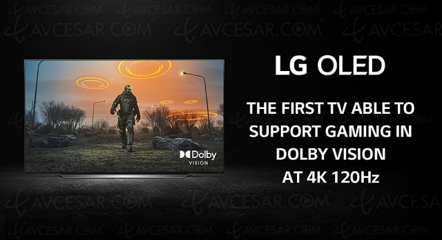 HDR Dolby Vision 4K/120 sur TV Oled/LCD LG 2020/2021