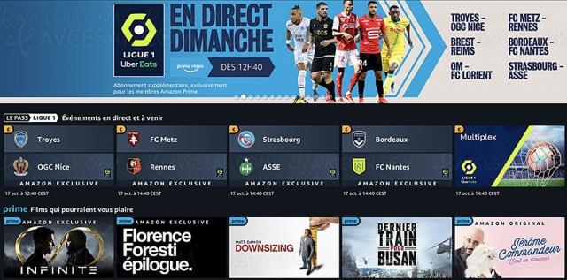 Nice-Marseille et autres matchs de football en exclusivité sur Prime Video en octobre