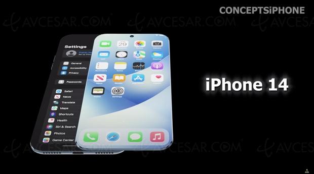 Concept iPhone 14 à écran coulissant rétractable