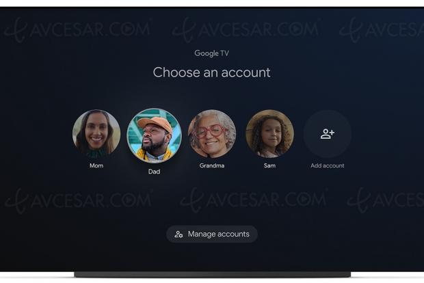 Google TV, bientôt les profils personnalisés…