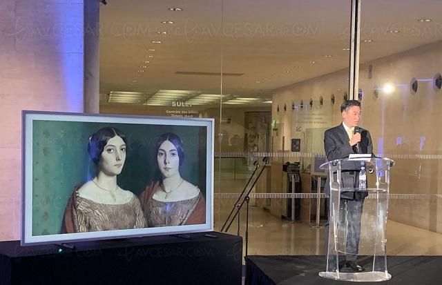 Exposition temporaire Belles du Louvre sur TV Samsung The Frame