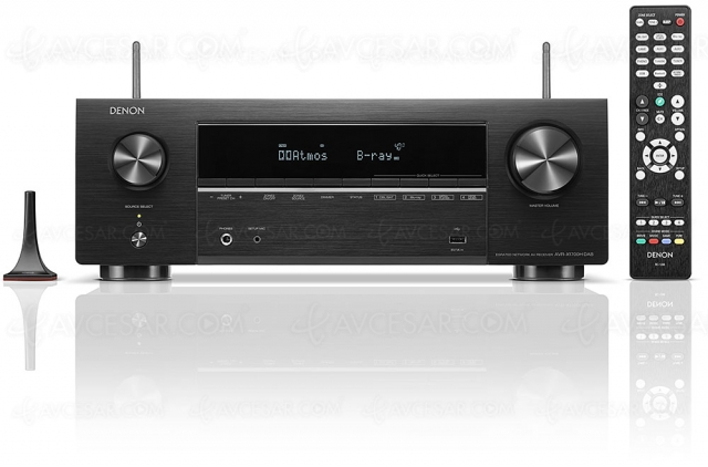 Denon AVR-X1700H, amplificateur 7.2 Ultra HD 8K, HDMI 2.1, HDR Dolby Vision, HDR10+, AirPlay 2, Heos…