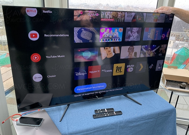 TV QLED Ultra HD 4K Thomson 55UH7500 : Android TV 11, HDR 10+, HDR Dolby Vision, Dolby Atmos…