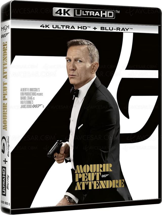 Mourir peut attendre 4K Ultra HD Blu‑Ray, le dernier James Bond en précommande
