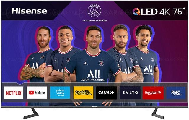 Pré-Black Friday 2021 > TV QLED 4K Hisense 75A7GQ à 990 €, soit ‑500 € de remise