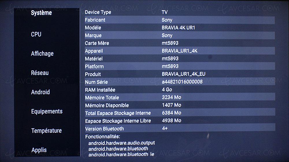 Test TV - Écran plat Sony KD-65ZF9 - Résumé